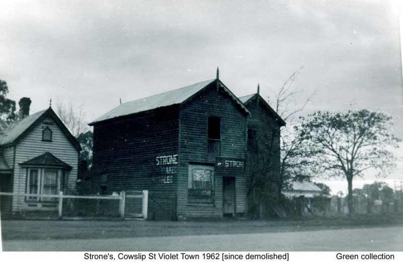 Strone's, No 1 Cowslip Street
