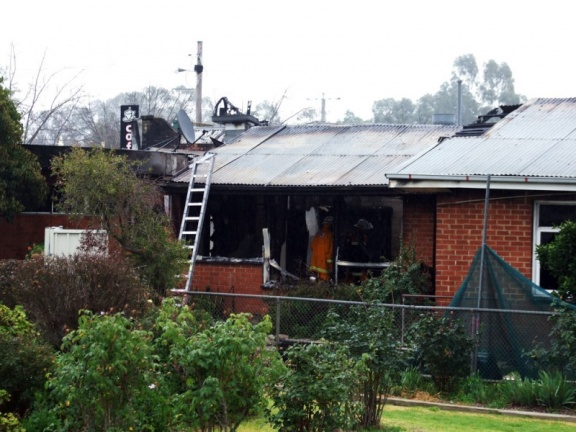 Fire destroys Milk Bar 2009