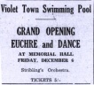 Advertising Pool Opening