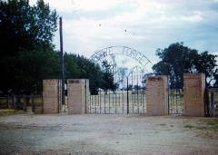 Memorial gates at Recreation Reserve