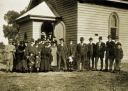 Congregation outside Methodist Church, Caniambo 1920s-1930s