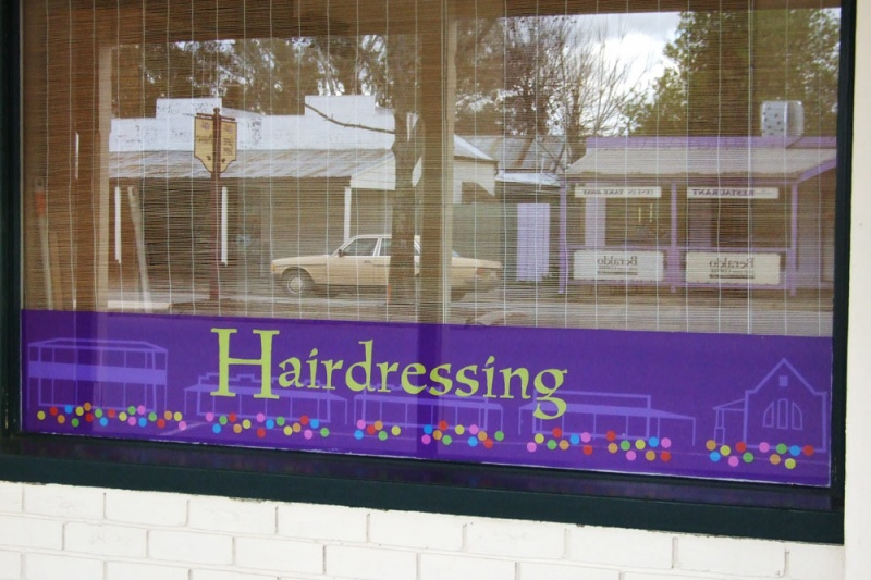 Shop Window - Violet Town Hairdresser