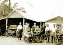 In front of Edward W Telfords Blacksmith Shop, 1920s